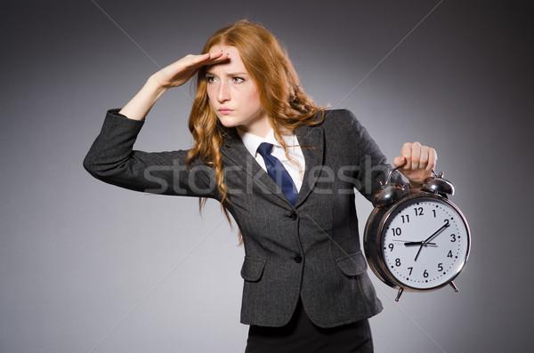 Işkadını saat geç kadın çalışmak işadamı Stok fotoğraf © Elnur