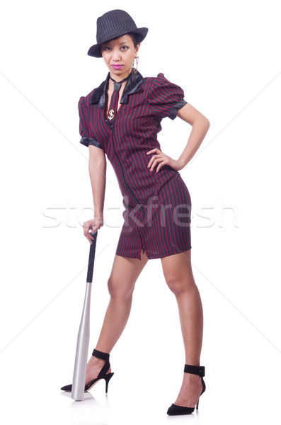 Woman gangster with baseball bat Stock photo © Elnur