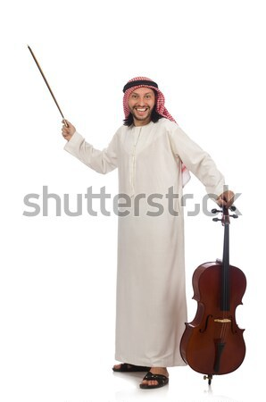 Arab man with ice axe isolated on white Stock photo © Elnur