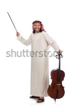 árabes hombre hielo hacha aislado blanco Foto stock © Elnur