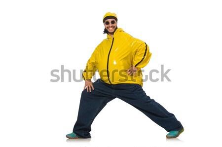 Excesso de peso homem isolado branco saúde exercer Foto stock © Elnur