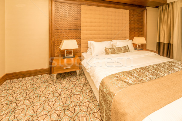 Hotelkamer moderne interieur business huis tabel Stockfoto © Elnur
