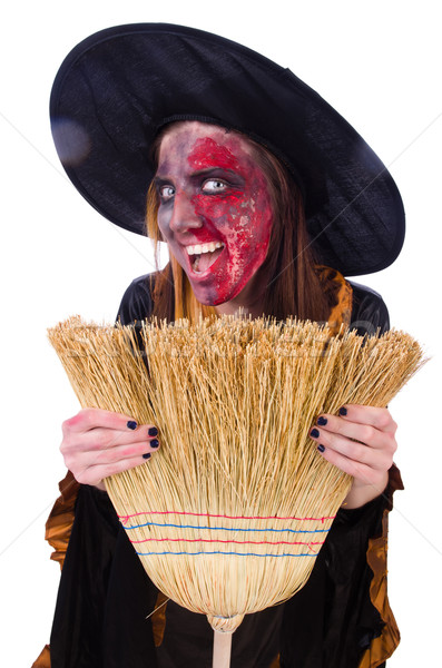 Scary witch in halloween concept Stock photo © Elnur
