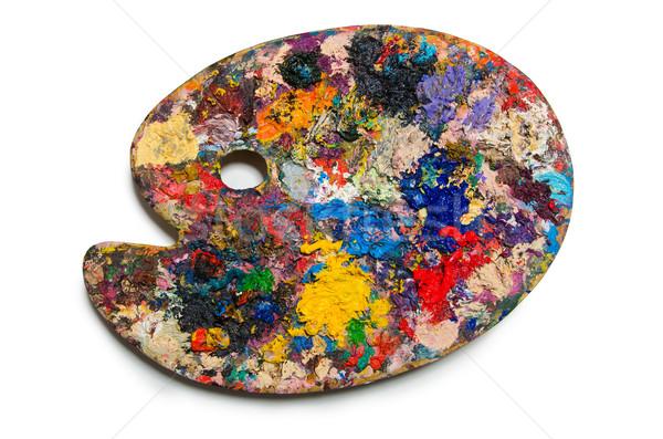 Artysty palety odizolowany biały wody szkoły Zdjęcia stock © Elnur