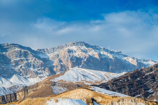 Montanas invierno Azerbaiyán cielo paisaje nieve Foto stock © Elnur