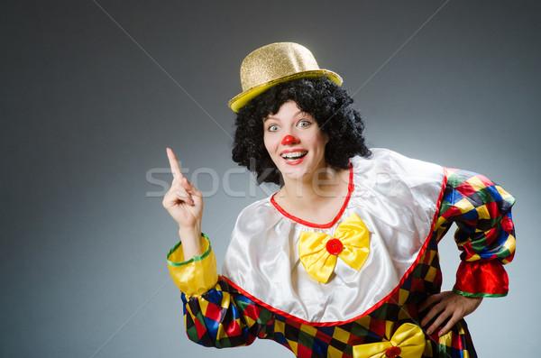 Clown grappig donkere partij gelukkig leuk Stockfoto © Elnur