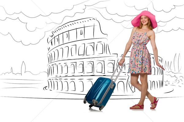 Рим Италия девушки счастливым Сток-фото © Elnur