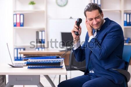 сердиться агрессивный бизнесмен пушки служба стороны Сток-фото © Elnur