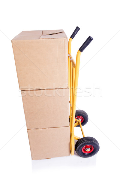 The shipping cart isolated on the white background Stock photo © Elnur