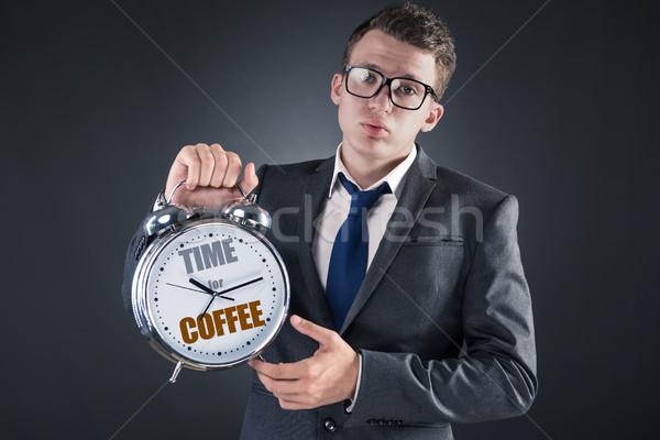 Stockfoto: Zakenman · koffiepauze · zomer · tijd · ontspannen · uitvoerende