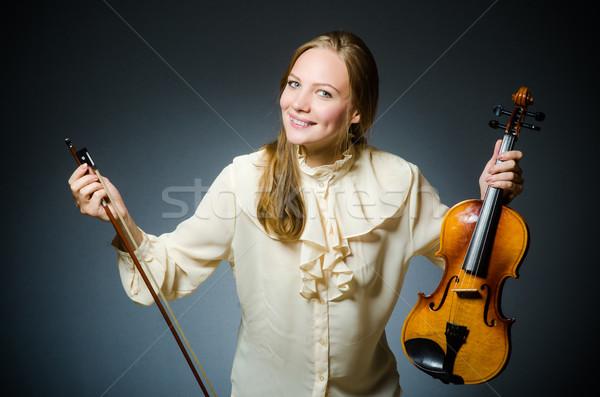 Donna violino giocatore musicale concerto suono Foto d'archivio © Elnur