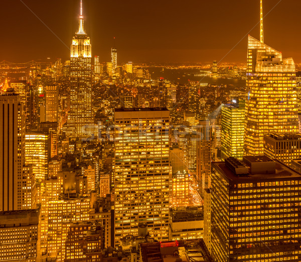Widoku nowego Manhattan wygaśnięcia działalności niebo Zdjęcia stock © Elnur