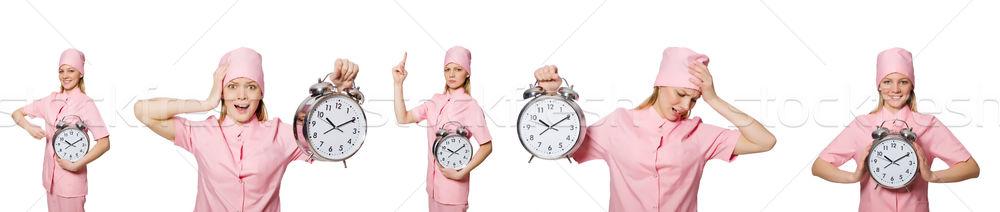 Femme médecin manquant horloge médecine Photo stock © Elnur