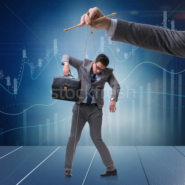 Empresário fantoche manipulado patrão mão trabalhar Foto stock © Elnur