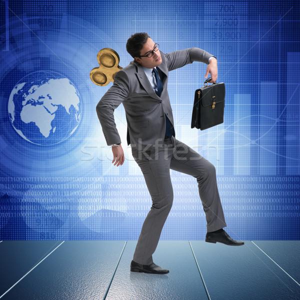 üzletember kulcs munka öltöny játék hát Stock fotó © Elnur
