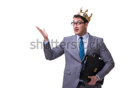 The king businessman isolated on white background Stock photo © Elnur