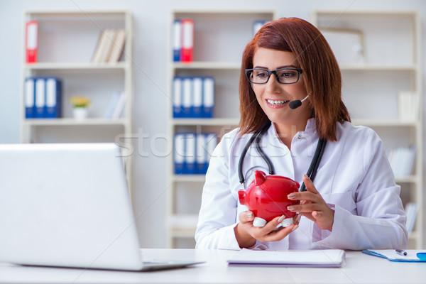 Doktor pahalı sağlık bilgisayar para tıbbi Stok fotoğraf © Elnur