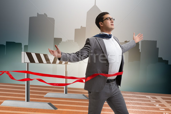 The businessman in ambition and motivation concept Stock photo © Elnur