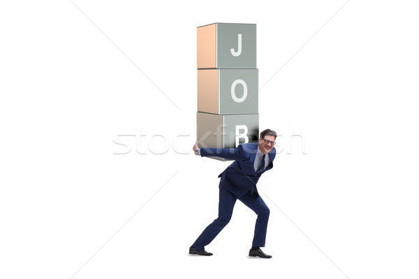 Businessman carrying the burden of his job Stock photo © Elnur