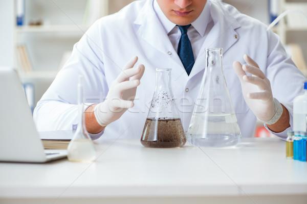 молодые исследователь ученого воды испытание эксперимент Сток-фото © Elnur