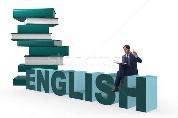 Empresário inglês linguagem treinamento fundo trabalhando Foto stock © Elnur