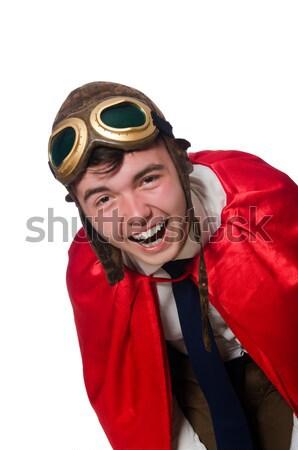 Uomo diavolo rosso costume sorriso sexy Foto d'archivio © Elnur