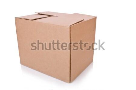 カートン ボックス 孤立した 白 オフィス 船 ストックフォト © Elnur