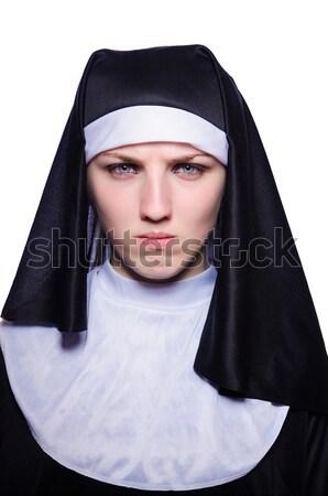 молодые монахиня религиозных женщину красоту портрет Сток-фото © Elnur