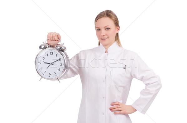 Kobieta lekarza brakujący terminy medycznych szpitala Zdjęcia stock © Elnur