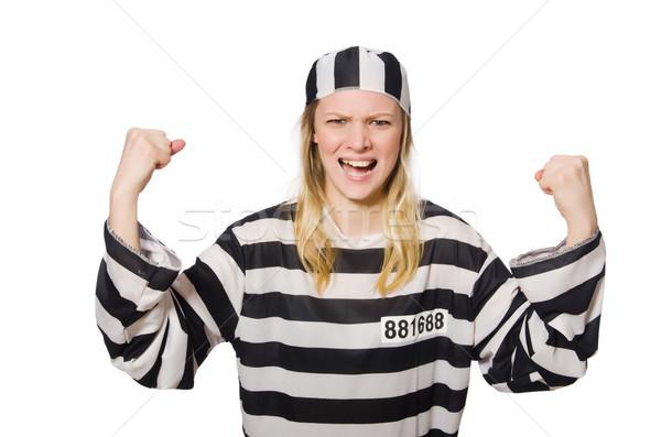 Vicces börtön bennlakó rendőrség szabadság női Stock fotó © Elnur