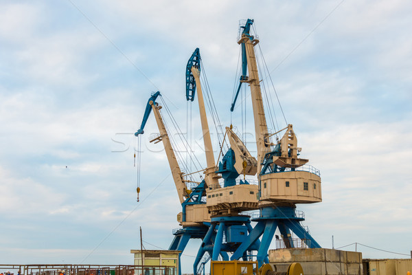 порта ярко лет день небе лодка Сток-фото © Elnur