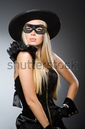 Stock photo: Woman in pirate costume isolated on white