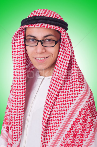 Young arab man isolated on white Stock photo © Elnur