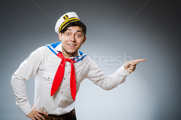 Divertente marinaio indossare Hat sorriso felice Foto d'archivio © Elnur