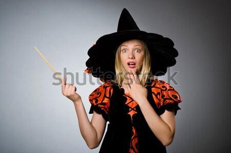 Nő kalóz éles kés buli divat Stock fotó © Elnur