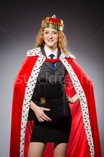 Woman queen businesswoman in funny concept Stock photo © Elnur