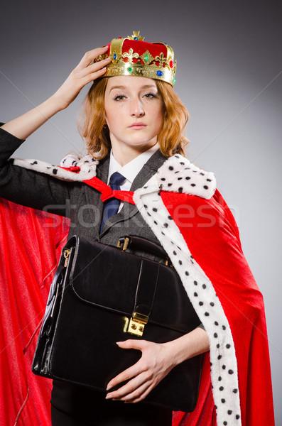Nő királynő üzletasszony vicces munka üzletember Stock fotó © Elnur