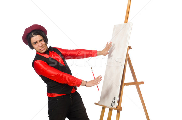 Funny artist isolated on white Stock photo © Elnur