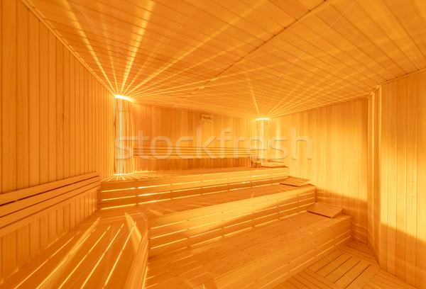 Forró fából készült szauna szoba belső fa Stock fotó © Elnur