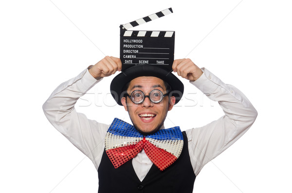Funny man wearing giant bow tie Stock photo © Elnur