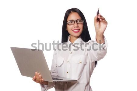 Mulher jovem negócio menina trabalhar estudante corporativo Foto stock © Elnur