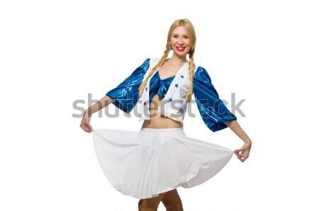 Woman cheerleader isolated on the white Stock photo © Elnur