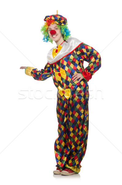 Stock photo: Clown isolated on the white background