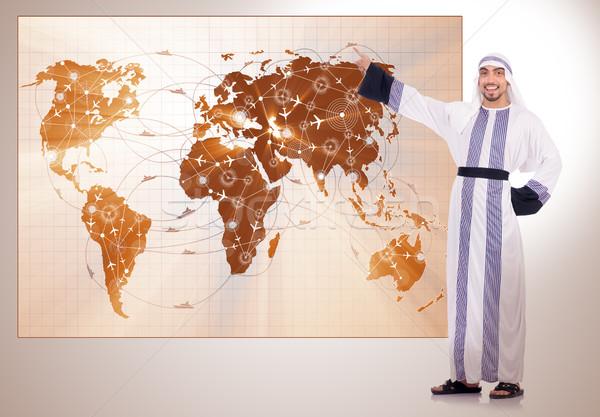 арабских бизнесмен Воздушные путешествия бизнеса Мир путешествия Сток-фото © Elnur