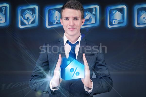 Jonge knap zakenman hypotheek business geld Stockfoto © Elnur