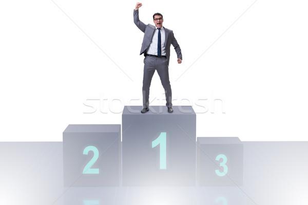 Empresário primeiro lugar competição esportes fundo Foto stock © Elnur