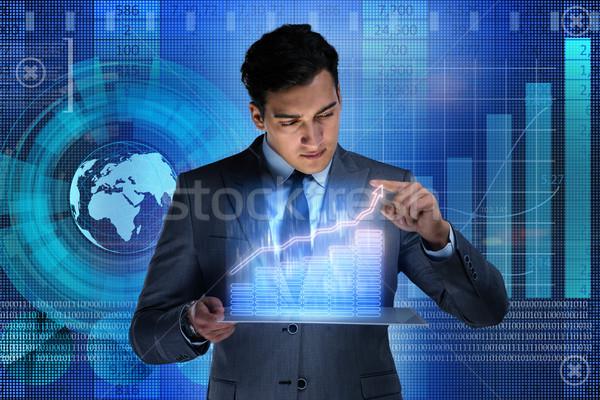 Człowiek czas handlowy człowiek biznesu działalności ceny Zdjęcia stock © Elnur