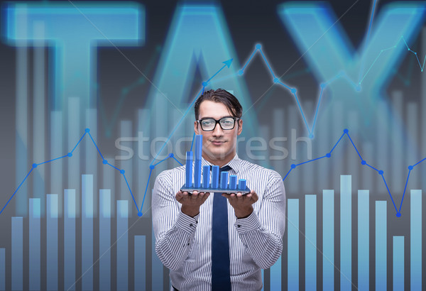 Man in tax return submission concept Stock photo © Elnur