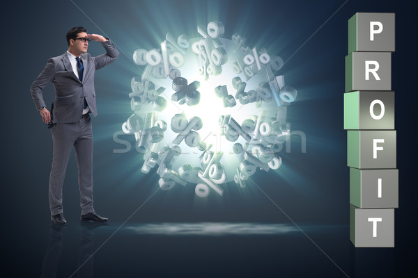 The businessman in the search for profits Stock photo © Elnur