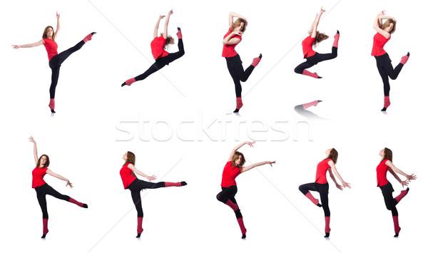 Fiatal tornász testmozgás fehér lány test Stock fotó © Elnur